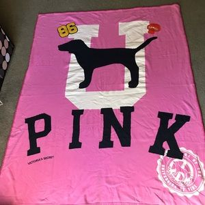 PINK by Victoria Secret throw blanket RARE big dog